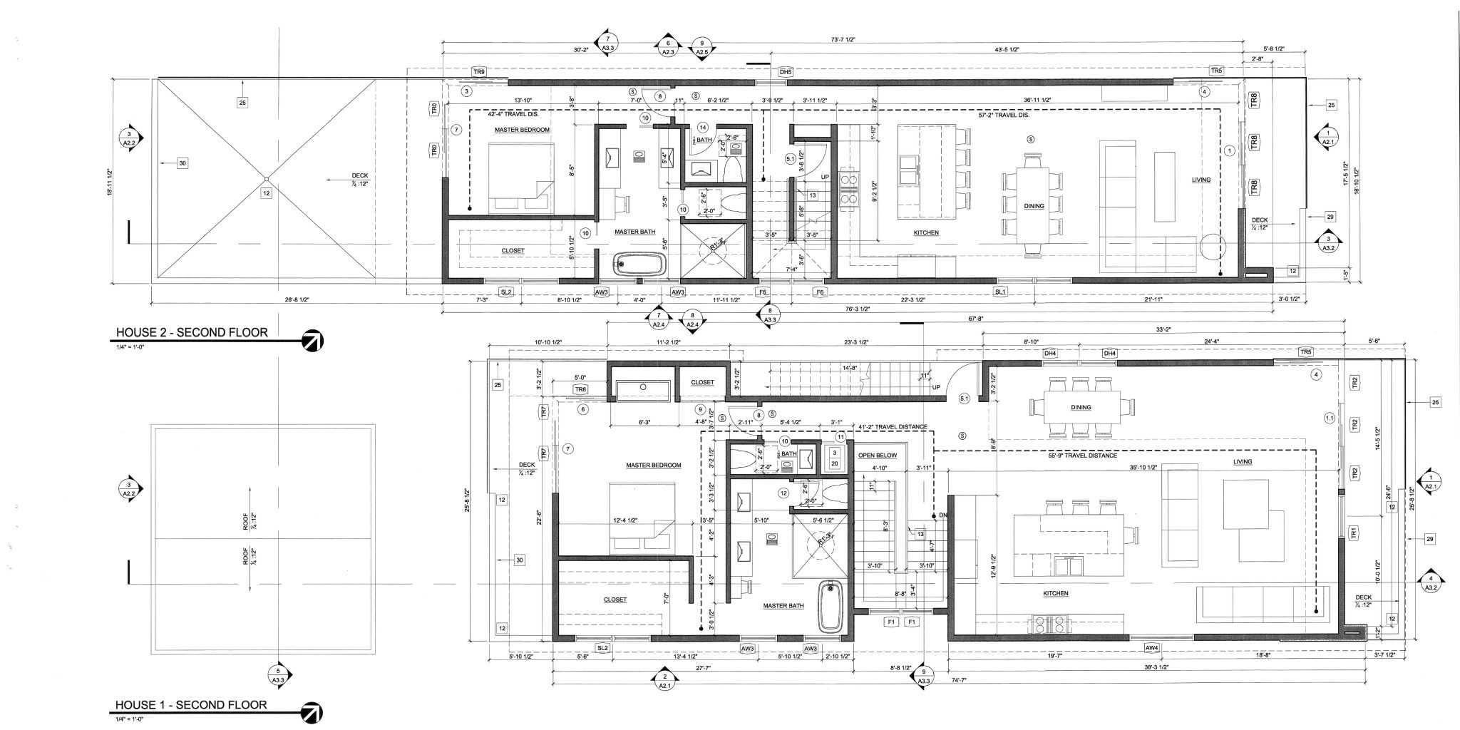 House 1 and 2 Second Floor